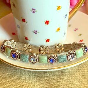 Vintage looking green and blue bracelet